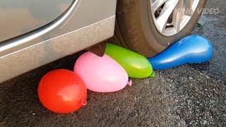 Crushing Crunchy & Soft Things by Car! - EXPERIMENT: CAR VS BALLOONS