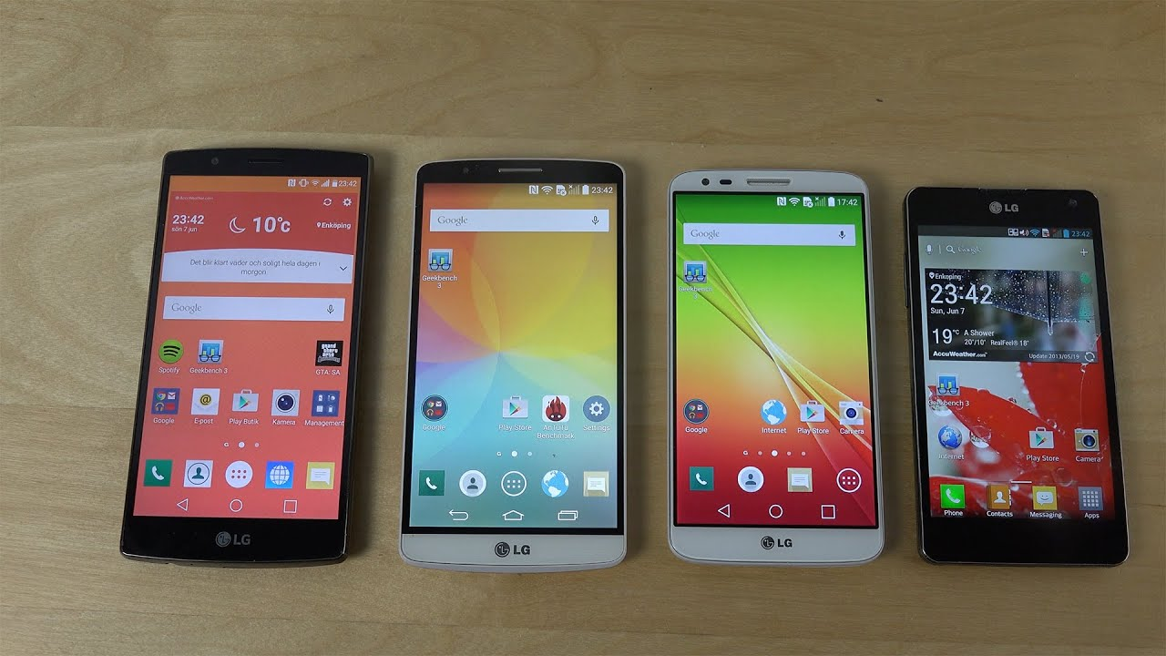 LG G4 Vs G3 Vs G2 Vs Optimus G
