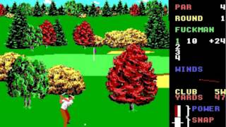 World Class Leader Board Golf game (Dos game 1990)