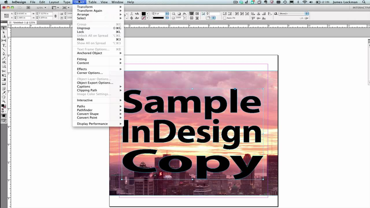 Converting Text Frames to Image Frames in InDesign