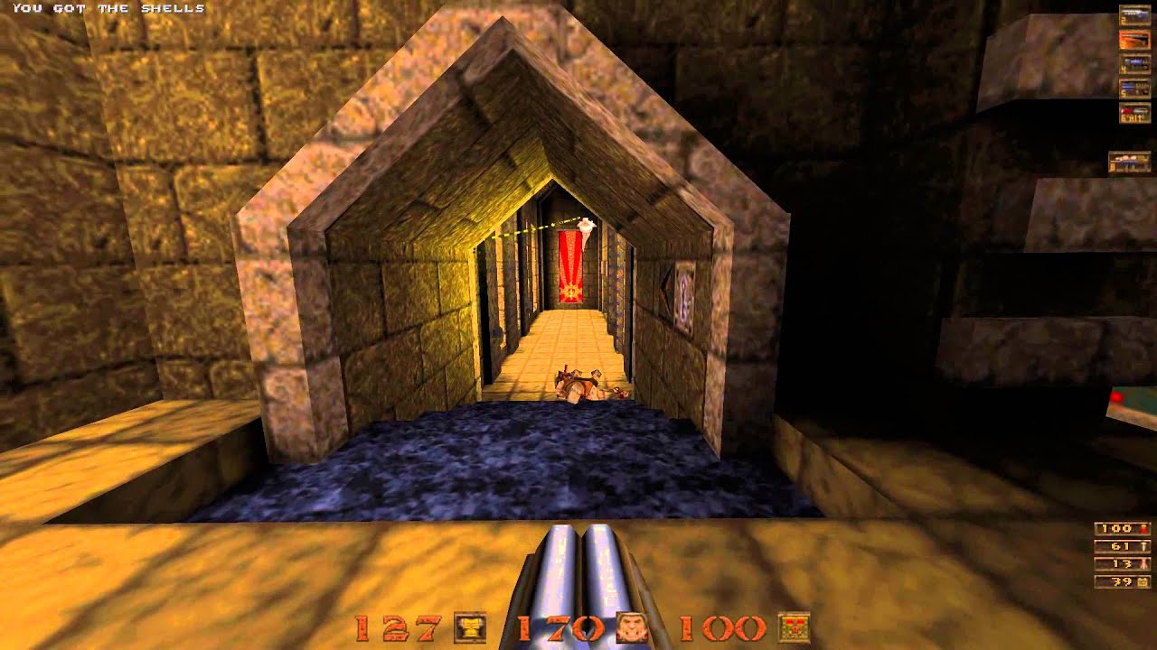 Quake Mission Pack 1 Scourge of Armagon - 07 The Gremlins Domain (Secret  Level) - All Secrets - 60f