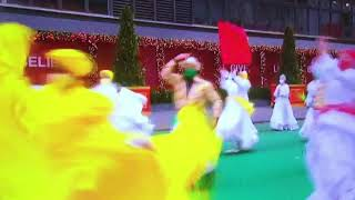 Danza Fiesta performs Puerto Rico's national dance bomba at 2020 Macy's Thanksgiving Day Parade.
