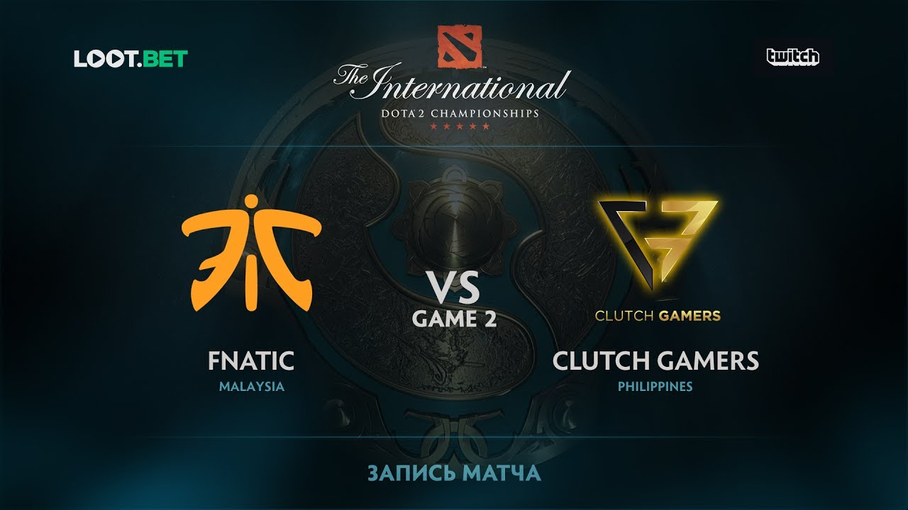 Fnatic vs Clutch Gamers, Game 2, The International 2017 SEA Qualifier
