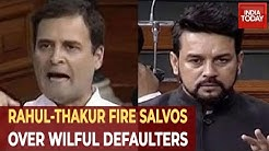 Rahul Gandhi Asks BJP Govt To Name 50 Wilful Defaulters, Anurag Thakur Fires Back