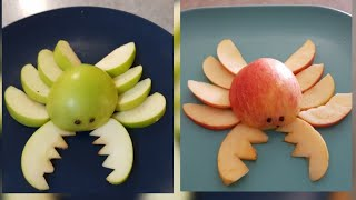 kids fruits art fun/learn how to make crab/mary had a little lamb song