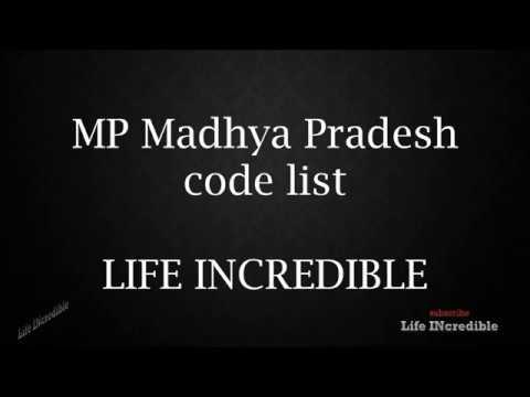 MP Madhya Pradesh Code List