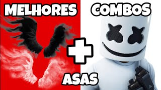 🔴10 COMBOS SKINS ASAS PERFEITAS FORTNITE ASAS DE SOMBRAS FORTNITE SHADOW WINGS COMBOS PERFECT WINGS