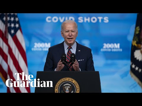 US President Joe Biden addresses the nation on Covid-19 response – watch live