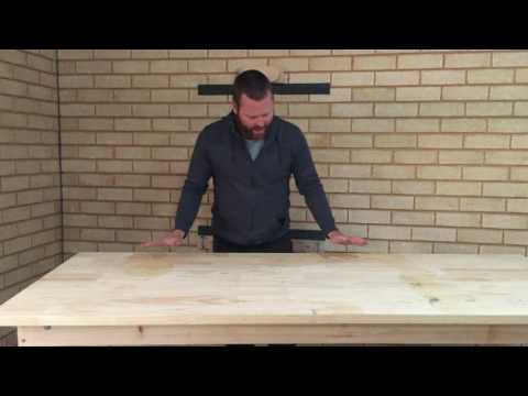 fold up work bench closer look