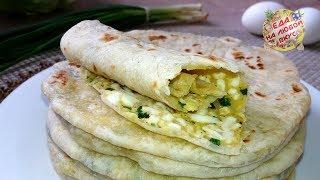 Лепешки с Зеленым луком и Яйцом – минимум продуктов, а такая Вкуснятина!