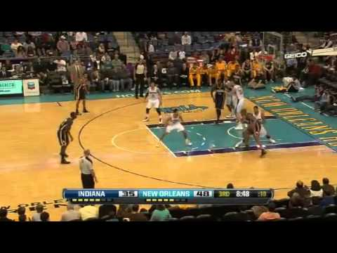 NBA December 22 2012: New Orleans Hornets vs Indiana Pacers Highlights