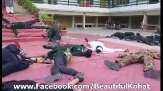 Dunya News - Peshawar: Students welcome Imran Khan, click photos on his arrival at APS