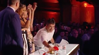 Simon Cowell Pushes Golden Buzzer For Young Singer Sarah Ikumu | Week 1 | Britain's Got Talent 2017