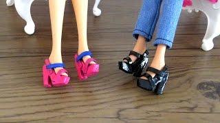 Como Fazer Sandália de Salto para Barbie e Outras Bonecas #sapatinhos mod. 1