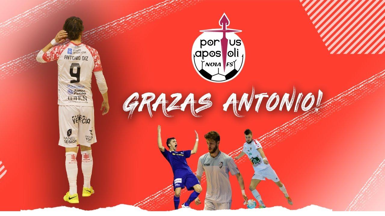 ¡Gracias Antonio!   Antonio Diz anuncia su retirada del fútbol sala profesional