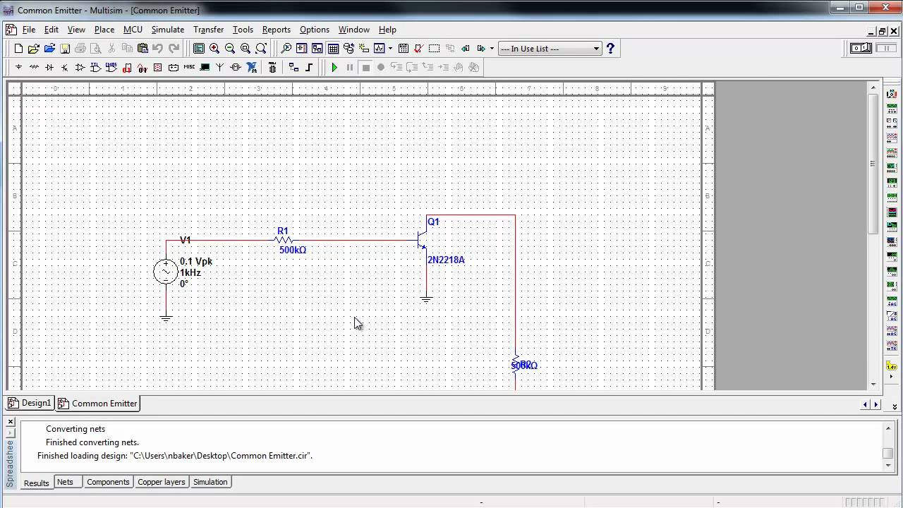 importing orcad designs and netlists with the ni circuit design suite national instruments [ 1280 x 720 Pixel ]