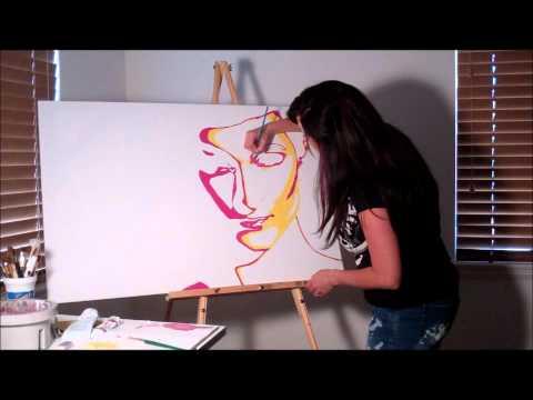 Pop art speed painting of Tamara by Shawna Jensen
