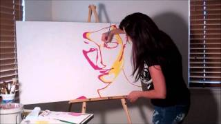 Pop art speed painting of Tamara by Shawna Jensen