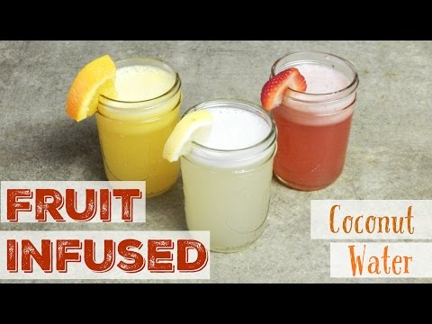 Fruit Infused Coconut Water DIY Recipe (Agua Fresca) Detox, Heal, Hydrate and Secret to Drink Water!