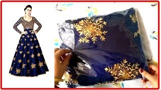 Unboxing Bangalore Silk Embroidered Gown for Women from Amazon