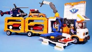 또봇 쪼꼬베이스 헬로카봇 파워레인저 다이노포스 장난감 TOBOT BASE toy trailer & sticker