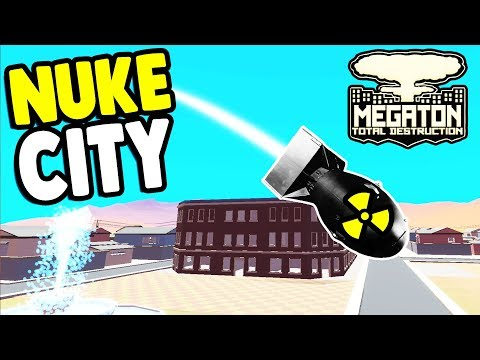 NUCLEAR BOMB vs. BIG CITY who will win... | Megaton: Total Destruction Gameplay
