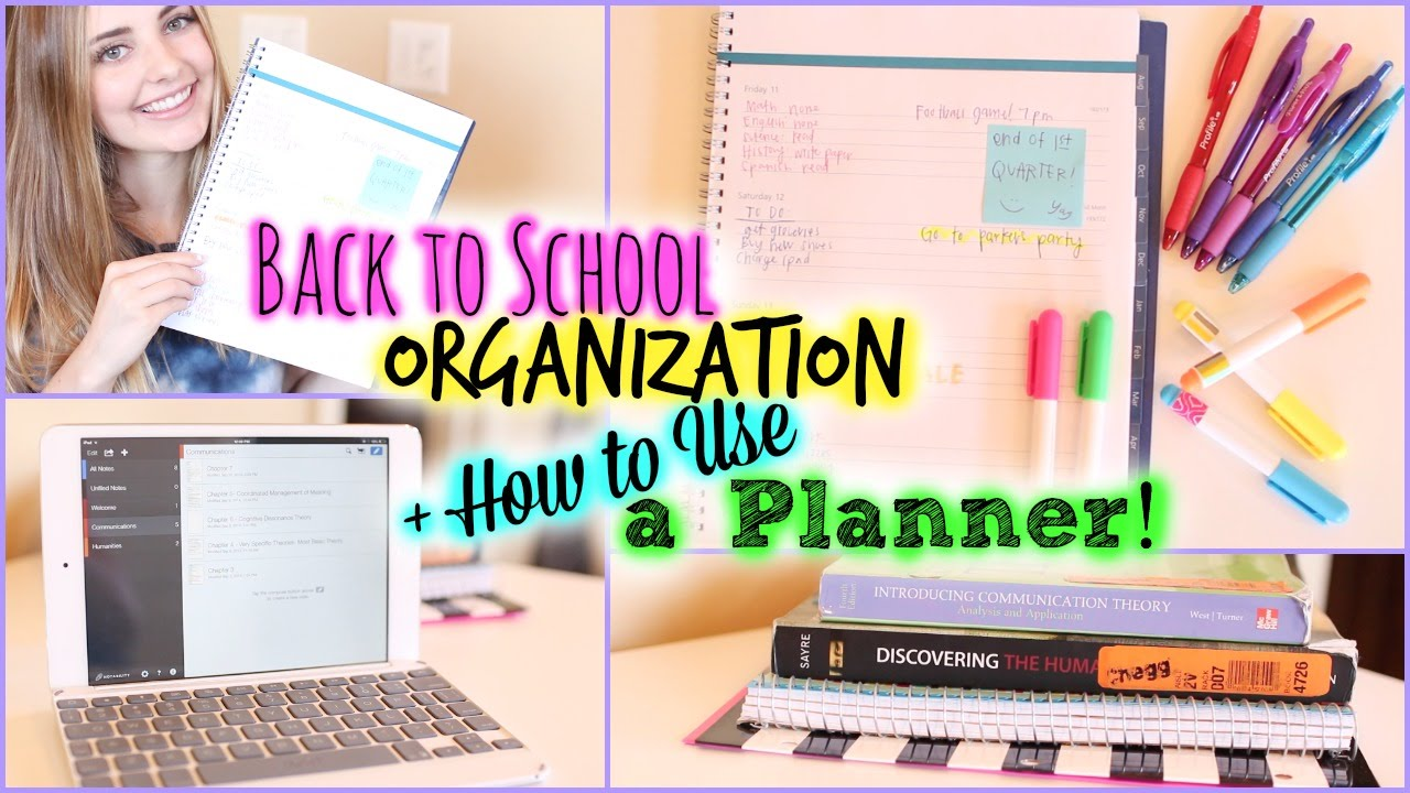 school organization study tips how to use a planner