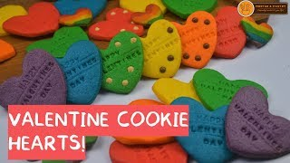 COLORFUL RAINBOW HEART COOKIES  Ep 87  Mortar and Pastry