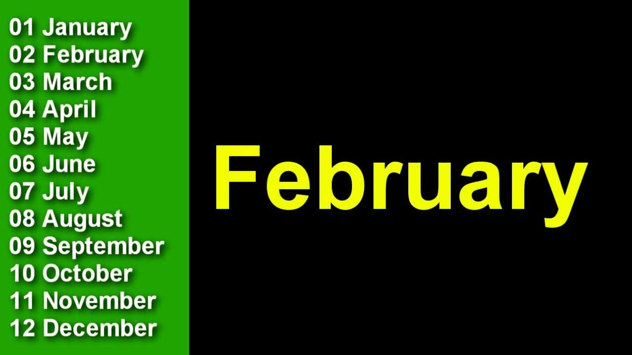 Download Learn The Months Of The Year In English -  Speak English, Learn English,