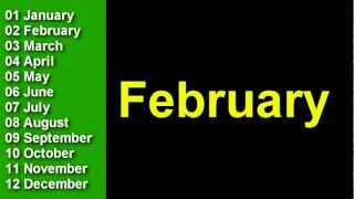 Learn The Months Of The Year In English