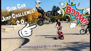 BMX Soda Can Jump Challenge 2.0!!! - @CaidenBmx