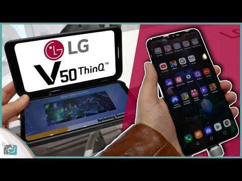 ال جي في 50 LG V50 ThinQ   أول معاينة عربية للهاتف مع اكسسوار لمحترفي الألعاب