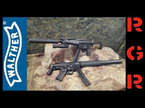 Walther 22lr HK MP5 SD6 and A5 Review