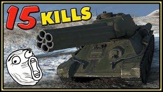 T-34-85M - 15 KILLS - World of Tanks Gameplay