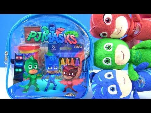 Pijamaskeliler sırt çantası içinde neler var Pijamaskeliler oyun hamuru aktivite seti süsleme oyunu