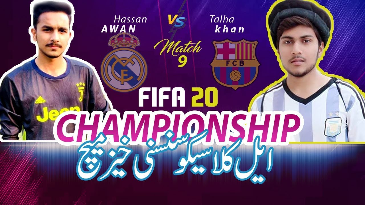 Fifa 20 Gameplay | Real madrid vs Barcelona | El Clasico | Championship