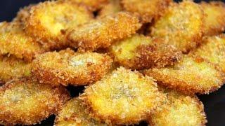 Panko Crusted Fried Plantains - BONUS Recipe   CaribbeanPot com thumbnail