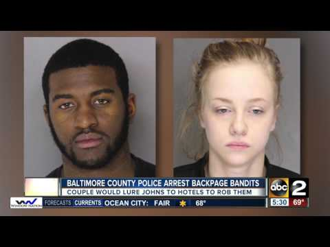 Baltimore County police arrest Backpage bandits