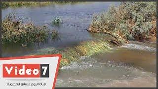 غرق أراضى زراعية فى أسوان بسبب انهيار جسر أحواض صرف محطة بلانة