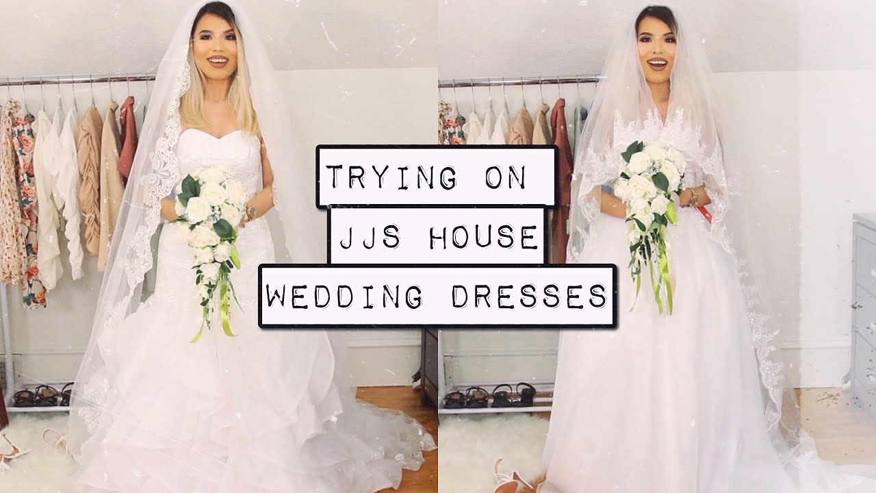 MY WEDDING DRESSES ARE HERE   FT. JJSHOUSE + TRY ON