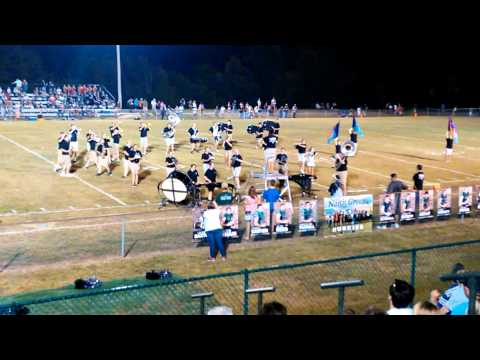 North Greene High School Marching Band Halftime show 9/4/2015