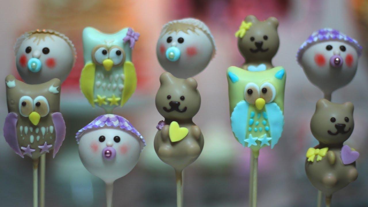 Mcbox Workshop Baby Cake Pops Für Taufe Baptism Windeltorte Bär Eule Shower Party
