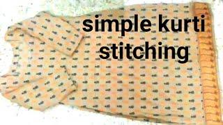 simple kurti / suit / kameez / Stitching very easy method step by step / VANSHIKA FASHION