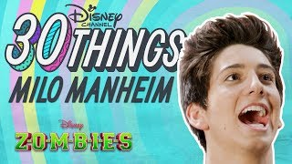 30 Things About Milo Manheim | ZOMBIES | Disney Channel