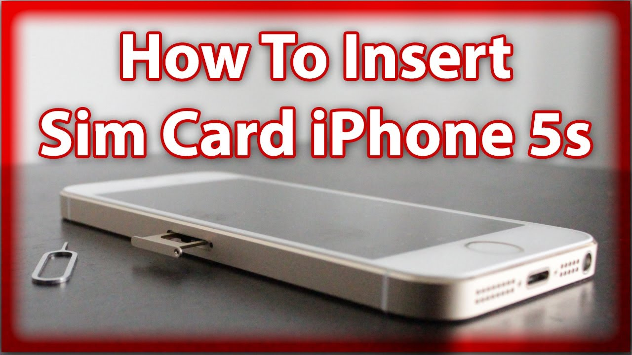 How To Remove / Insert A Sim Card In An iPhone