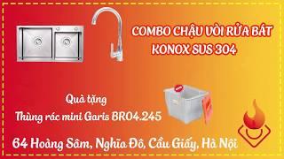 Bộ chậu vòi rửa bát Konox SUS 304