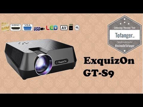 Exquizon GT-S9 : Vidéoprojecteur 800*480, Portable Multimédia, 1800 Lumens