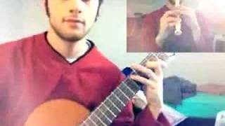 Zelda Song of Storms, in duet with myself (guitar+flute)