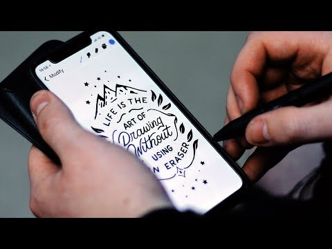 Hand Lettering on an iPHONE X?!