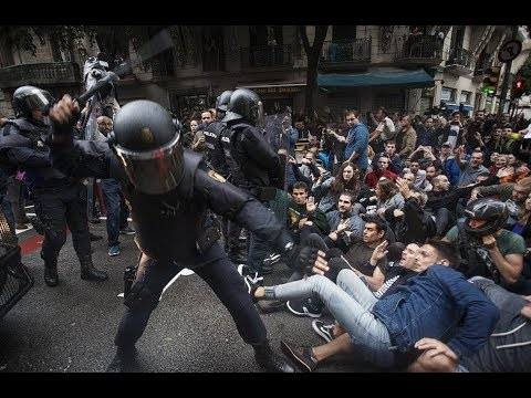 Catalan Referendum Spanish Police Violence And Brutality!